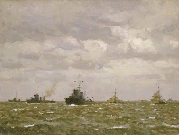 Wilkinson, Norman, 1878-1971; D-Day: Sweeping Ahead of the Destroyers, Early Morning, 6 June 1944